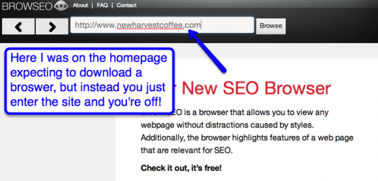 browseo-homepage-screenshot