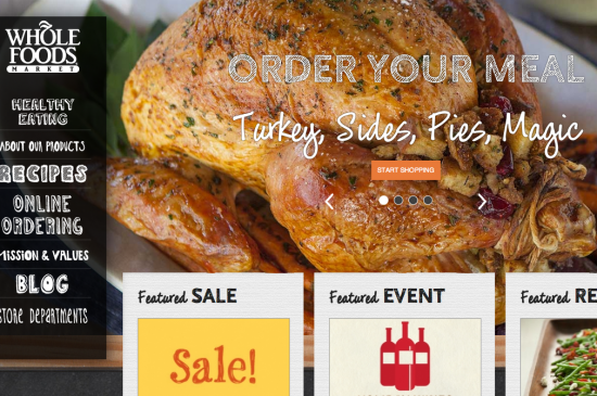 screencap of new wholefoods website