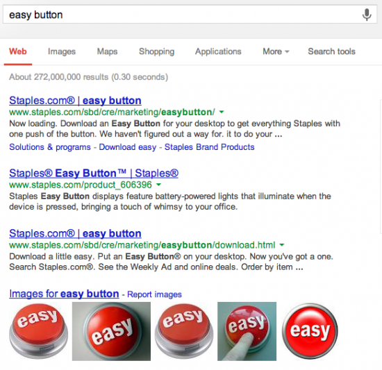 search results for easy button