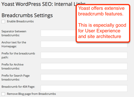 breadcrumbs in yoast