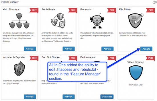 all in one seo features manager