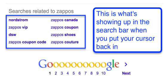zappos related searches