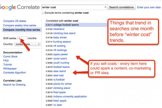 how to use google correlate