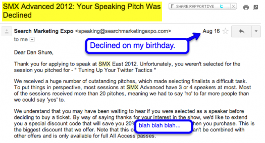 smx rejection