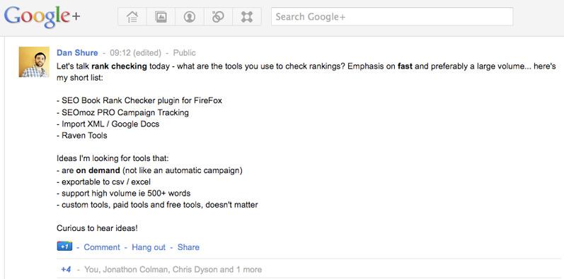 google plus post screenshot