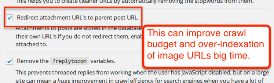 redirect images urls in yoast