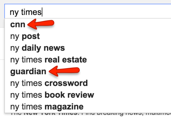 ny times search suggest