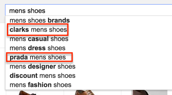 mens shows search suggest