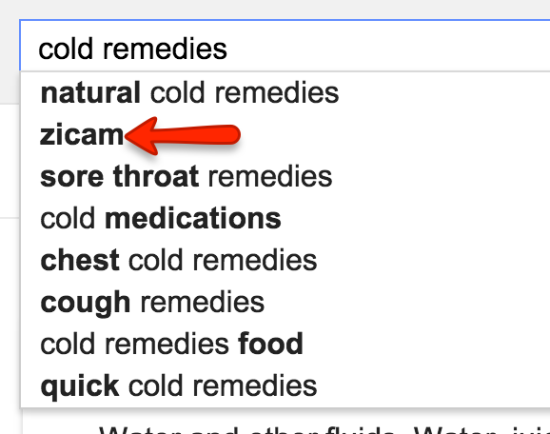 cold remedies search suggest