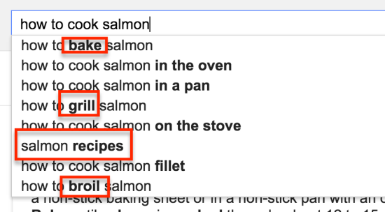 how to cook salmon search suggest