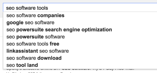seo software tools autocomplete